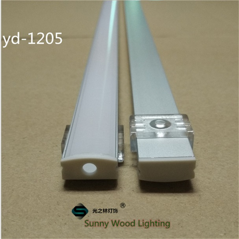 10set/lot 12mm strip  led aluminium profile for led bar light, led  aluminum channel,  aluminum housing Sunny Wood YD-1205-F