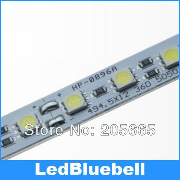 SMD5050 72pcs/meter,  aluminum plate lights with super bright lighting desk lamp board rigid lights, 12V Input
