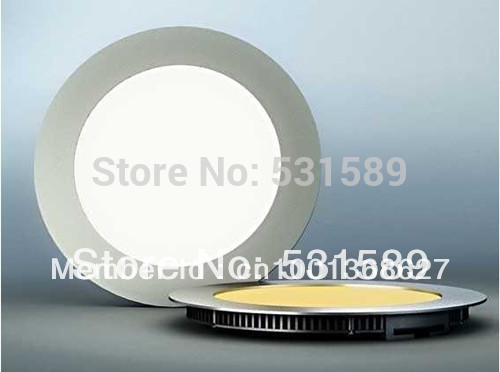 20pcs 3W Ultra thin  LED panel Frosted Cover Round Shape 3W Ceiling Mini LED Dimmable Panel Light with Power adapter