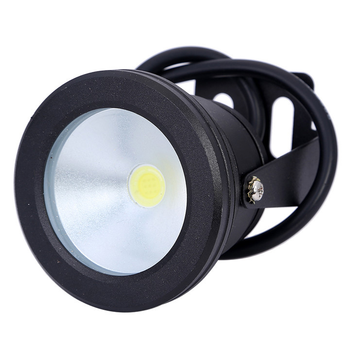 Wholesale 5pcs/lot 10W LED Underwater Light 12V Waterproof IP68 Fountain Pool Aquarium Lamp Black Body Cool White/Warm White