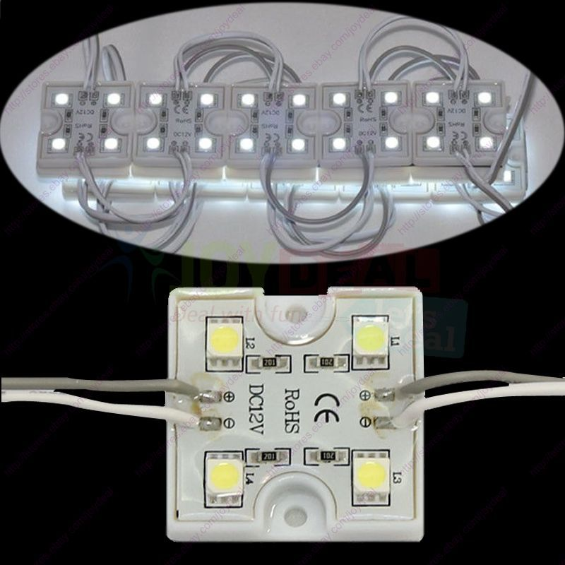 20pcs Waterproof DC12V Super Bright White 3535 5050 4SMD LED Module Strings Channel Sing Letter