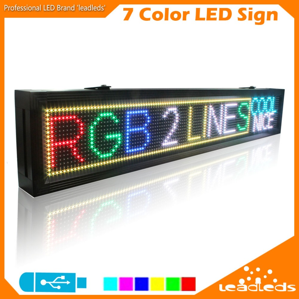 LLDP10-16128RGB Led Advertising Display Board USB Programmable Full Color Letters SMD Scrolling Led Display Outdoor Decoration