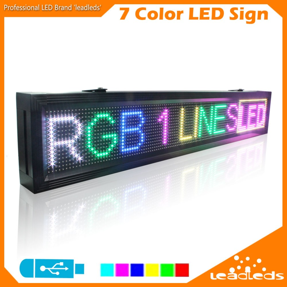 LLDP10-16128RGB Led Advertising Display Board USB Programmable Full