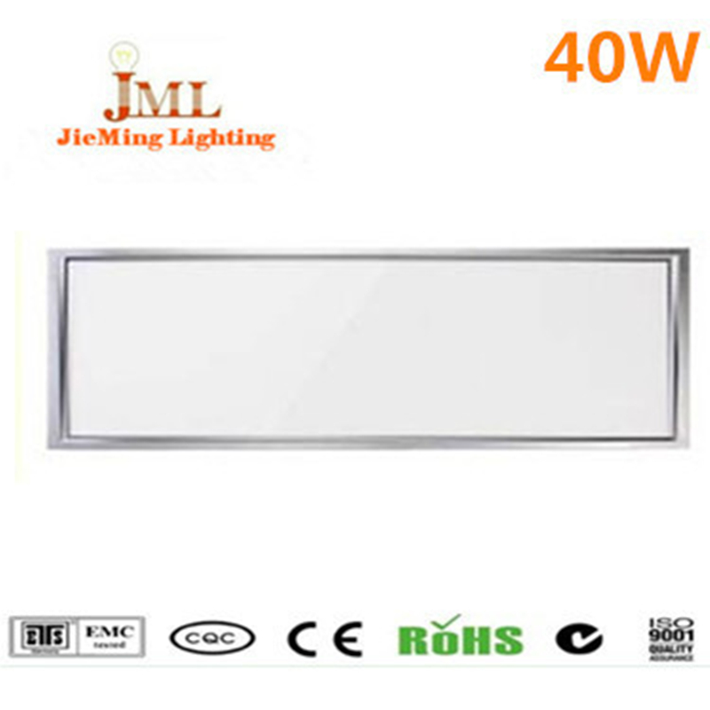 Factory sales wholesale LED panel light 1200*300mm 40W LED flat light white warm white  LED downlight AC85-265V indoor lighting