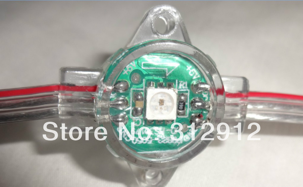 DC5V WS2812(6pin) full color led pixel light;.16.8mm diameter,IP66;one 5050 RGB LED with WS2811 chipset built-in as one pixel
