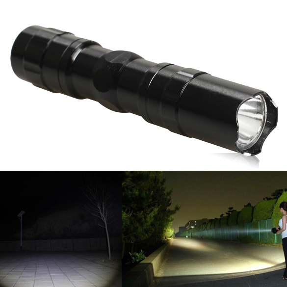3W Police LED Flashlight Light Lamp Torch Bike Lights with Clip Clamp Electric Torch + Hand Strap