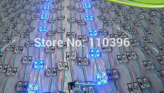 aluminum case 12v 4 led smd 5050 digital rgb ws2801 led pixel module,full color,waterproof ip65,1.44w/pcs,20pcs/lot