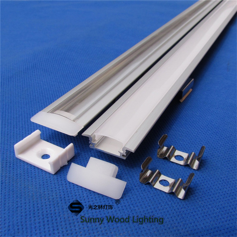 20meters/10pcs of 2meter/pc aluminum profile for led strip,2m led bar light with 5050 strip, built in 12mm pcb channel