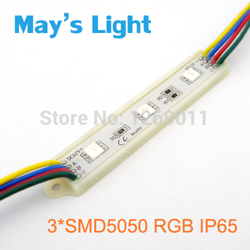 Rectangle SMD5050 RGB Waterproof LED Module Light with 3-year Warranty