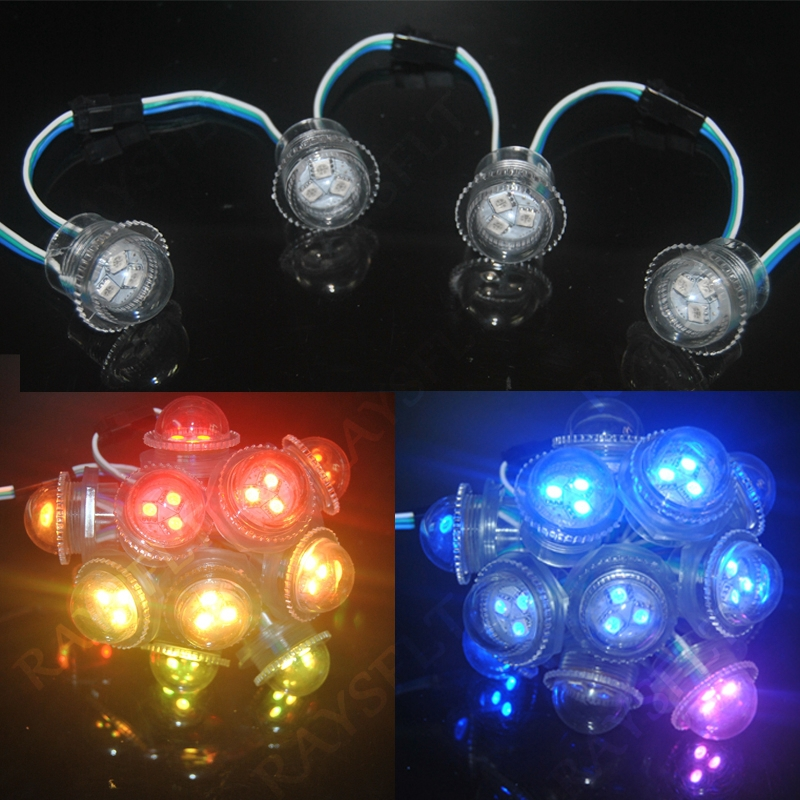 LED Lighting Modules 1000pcs DC12V 26mm Pixel Luces String WS2811 Waterproof SMD5050 RGB Colorful LED Module
