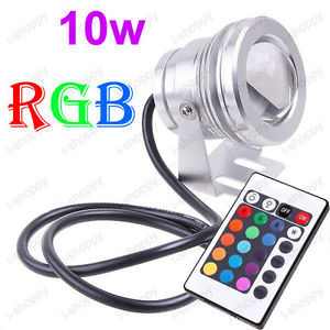 10W LED RGB Flash Fountain Pool Pond Light Underwater Fish Tank Lamp IP68 12V