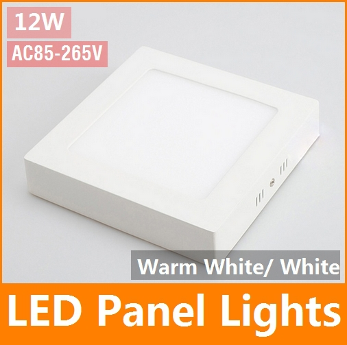12W Ming equipment LED Panel Light warm white Square Ceiling Wall Down Light Lamp Recessed Pure White led light