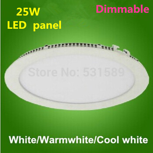 Freeship 50pcs/lot  Dimmable   LED downlight 25w ceiling downlight / AC85-260V wholesale led panel by DHL / Fedex
