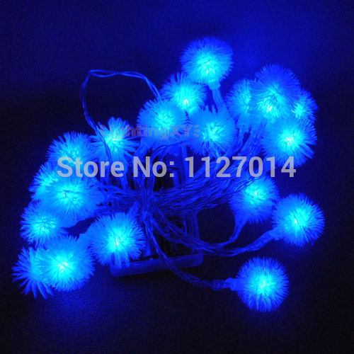 2m 20 Bulbs battery operated LED Cotton ball strings luminaria decoration lighting lamps Christmas holiday indoor night lights
