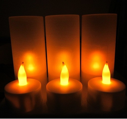 floating LED candles light bulb Rechargeable LED battery night light novelty electronic candle velas decorativas lote pilli mum