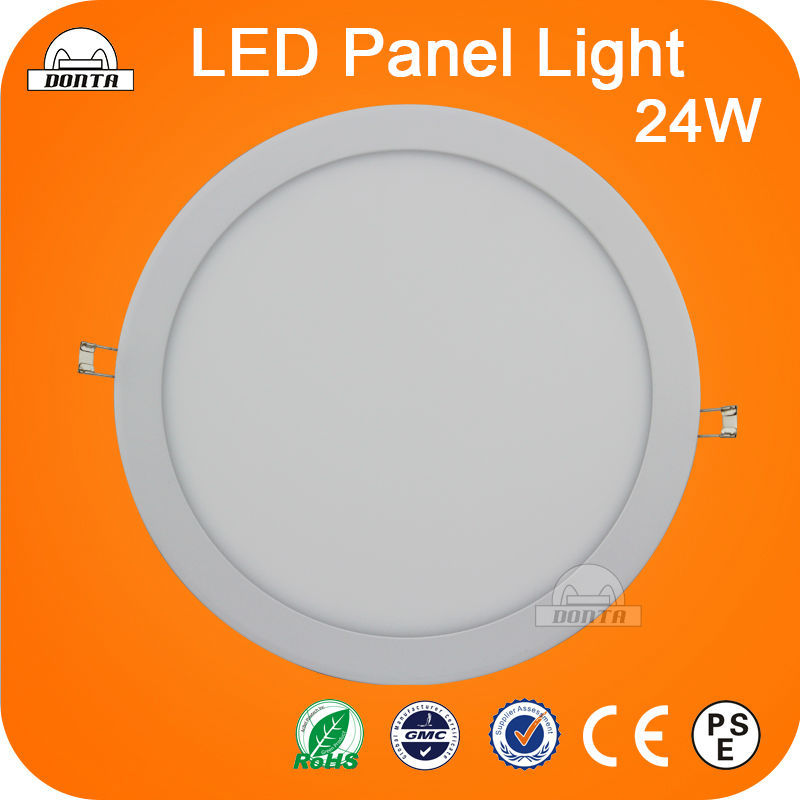 Slim 24W Round LED Panel Lights Aluminum Die Casting Panel Light Cold white warm white Warranty 2yeas CE RoHS