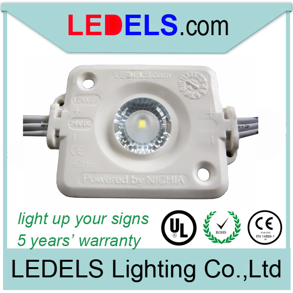 five years warranty,1.2w 130lm high power 24v led light for sign ilumination