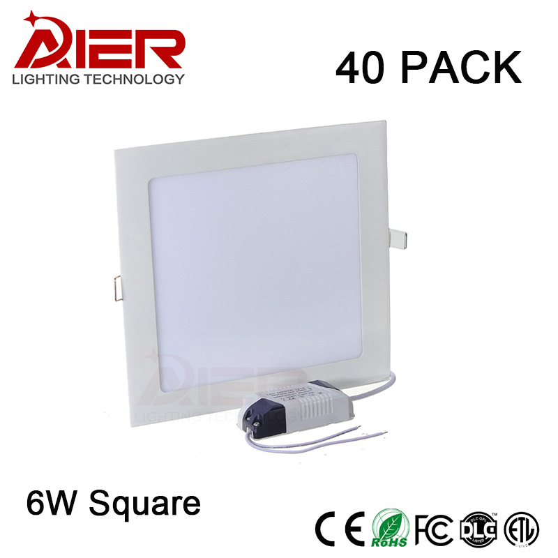 hot 6W led panel light square AC85-265V
