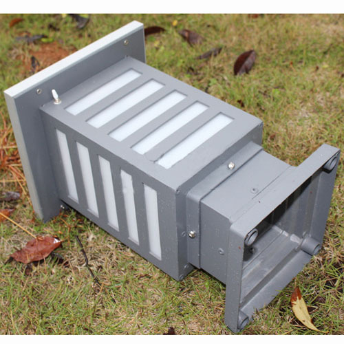 Pillar LED Solar Powered Outdoor Garden Lamps Lawn Pathway Lamp Casting Aluminum Enclosure LED Yard Solar Lights-zebra crossing