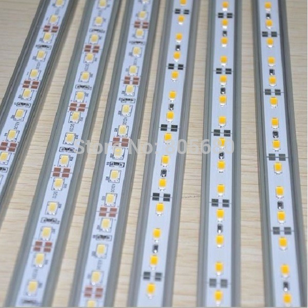 Wholesale 50pcs DC12V 18W 72pcs 5630 rigid led strip include housing and pc cover