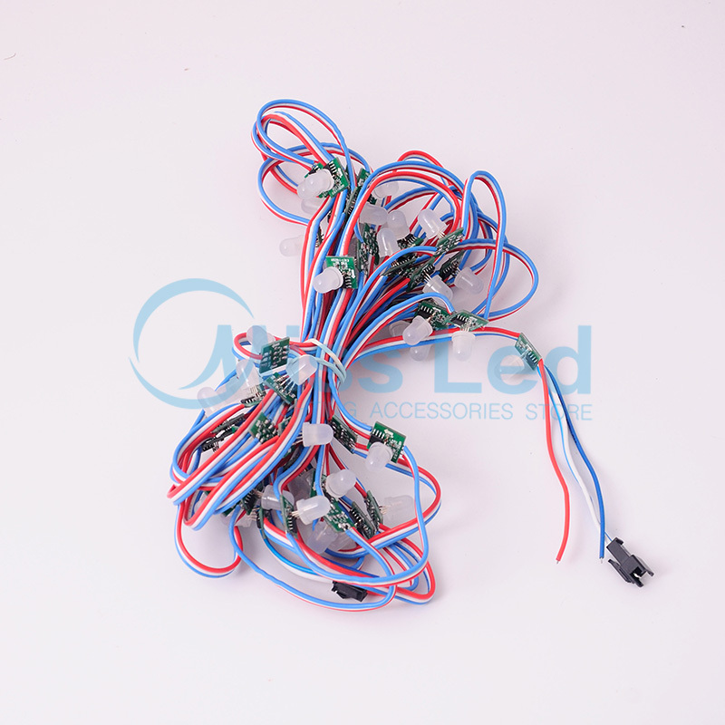 Freeshipping 50pcs T1515 Square UCS1903 IC Non-waterproof  LED pixel Node String modules Addressable RGB Color DC5V with wire