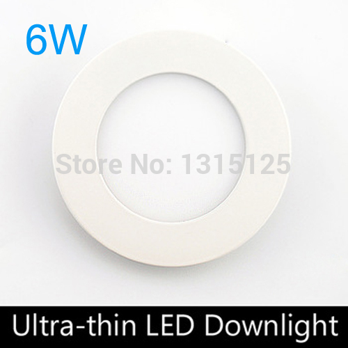 5PC / LOT Free shiping 6W round LED Panel Light ceiling light,AC85-265V 120mm ,smd 2835,show color index is high,indoor lighting