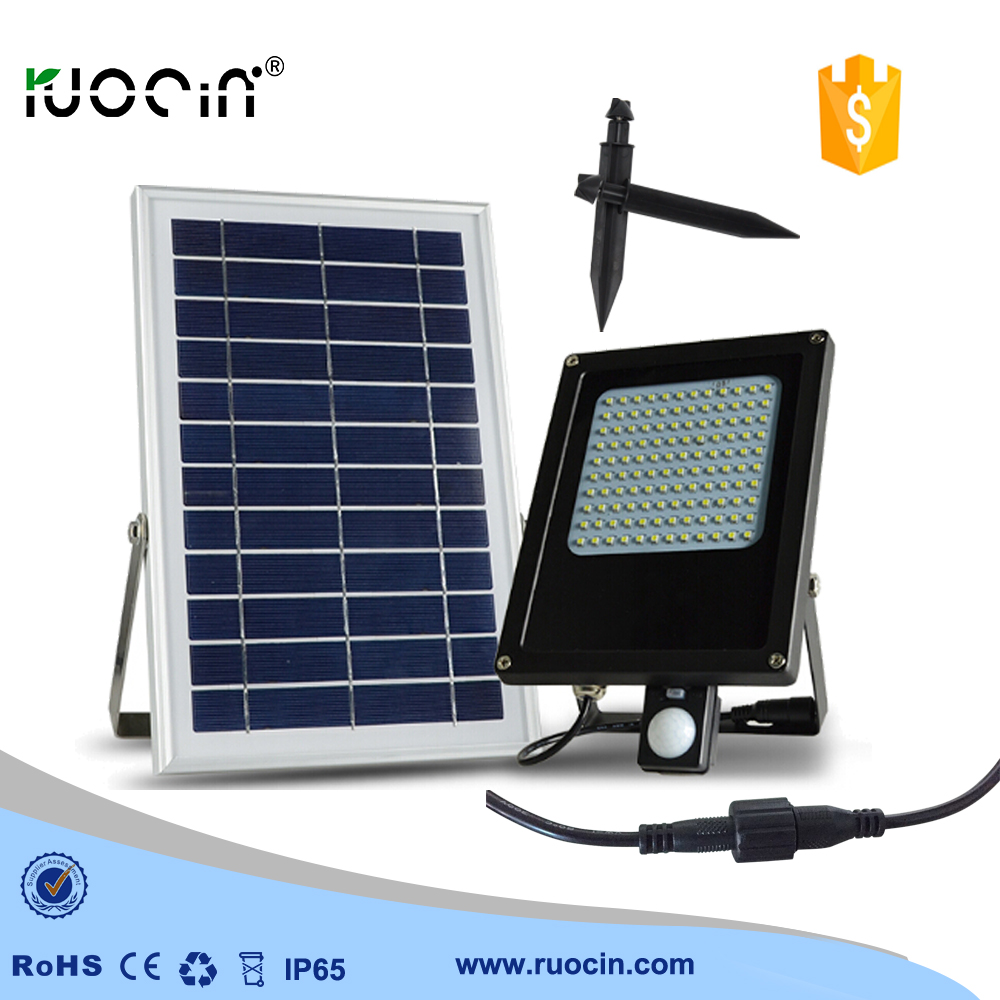 ruocin New style Solar lamps 120pcs LED motion sensor Garden light Outdoor Solar Powered light  floodlight  LED light