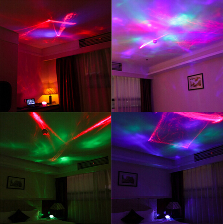 1 Piece Colored Diamond Aurora Borealis Projector with Speaker for Playing Music,Diamond Night Lamp in Retail Package
