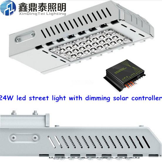 24W LED street light 12V with intelligent PWM dimming solar