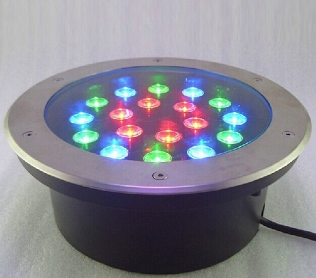 RGB&Single Color LED Underground Light 18W AC85-265V IP65 CE&Rohs approved Garden/Square/Stage/Bar floor lighting energy saving