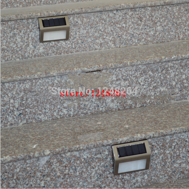 Sell like hot cakes New Solar Powered Waterproof LED Light Pathway Path Step Stair Wall Mounted Pathway Garden Outdoor Lamp