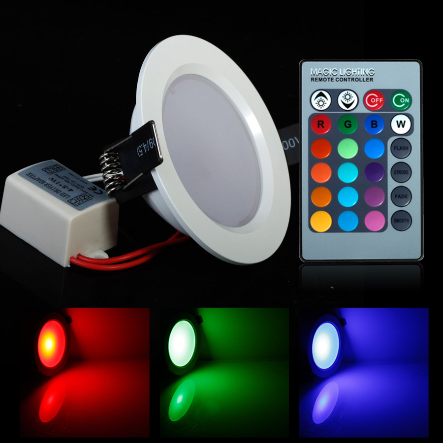 Round Shape High Power Epistar 5w 10w Rgb Led Panel Light With Remote Control Downlight