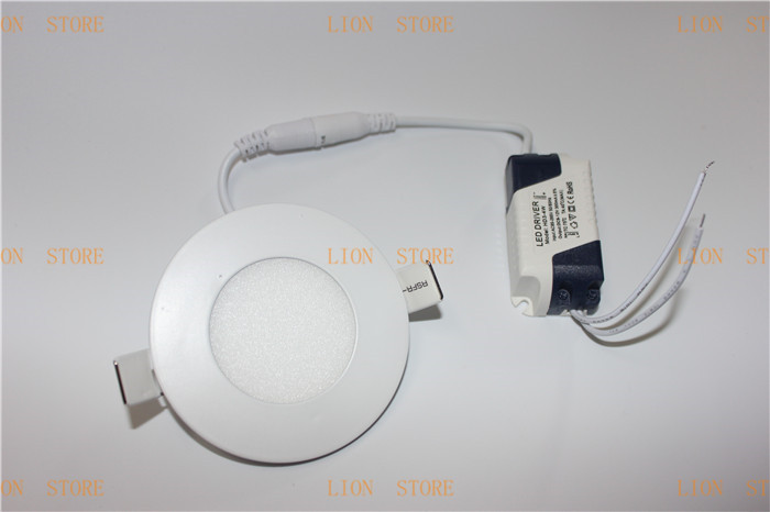 5pcs/lot High brightness LED Panel Lights ceiling lighting 3W 2835SMD  white/warm white AC85-265v led ceiling lamp