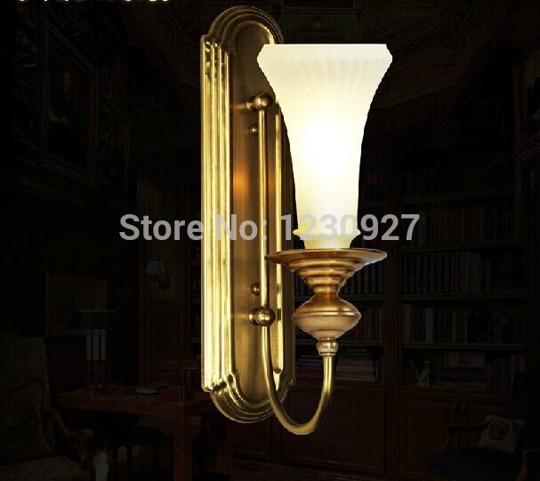 3W led European style indoor copper lamp  bedside lamp American corridor  high quality wall light  bedroom wall lamp