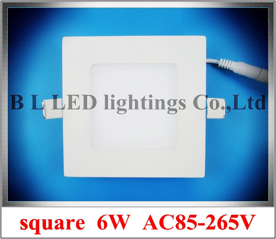 square shape LED panel lamp downlight 6W 400lm AC85-265V high bright CE & ROHS 2 year warranty  120mm*120mm