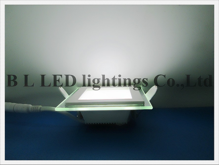 new style with glass square recessed LED panel light lamp 6W LED ceiling light  high bright  100mm * 100mm * 35mm  square