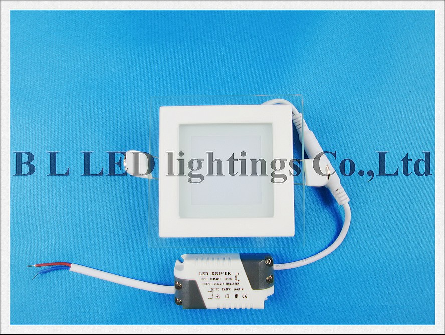 led panel light with glass square 6w------ led tube module ceiling panel flood bulb light lamp ------