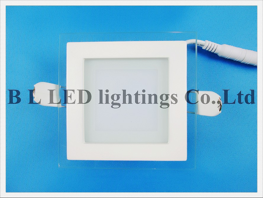 led panel light with glass square 6w (2)------ led tube module ceiling panel flood bulb light lamp ------