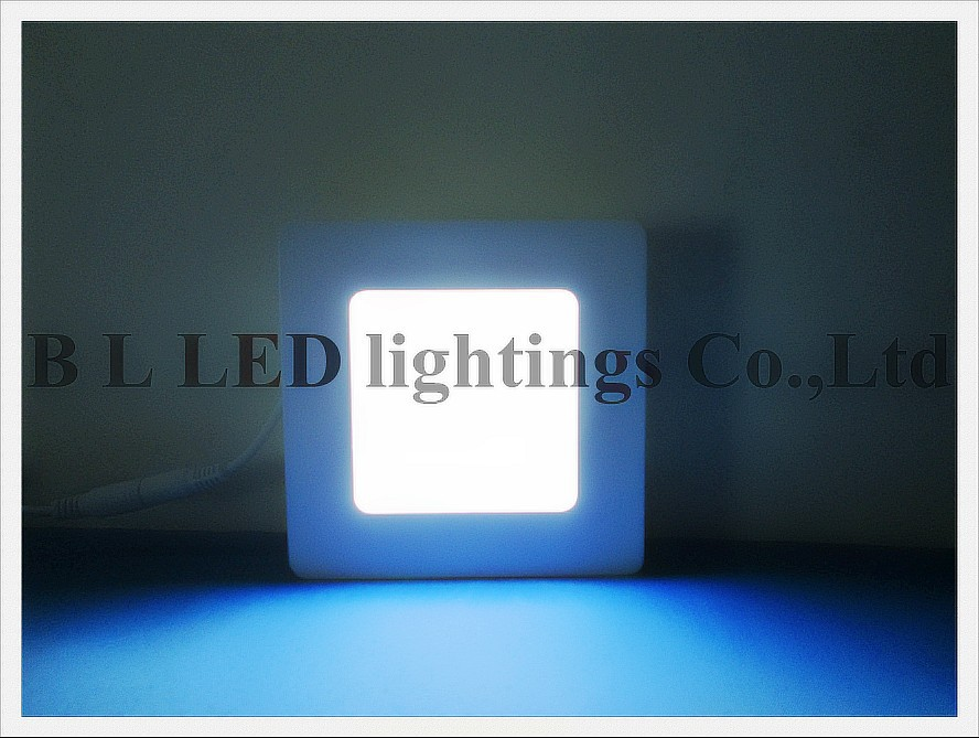 Surface Mount square style LED flat light panel lamp 6W SMD2835 30led 22-25lm/led 0.2W/led  120mm * 120mm * 40mm Aluminum + PMMA