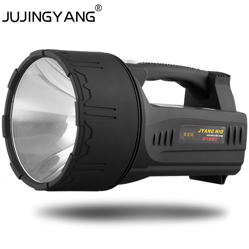 JUJINGYANG 55W light remote xenon searchlights lighting 40AH lithium battery charging 8-9 hours
