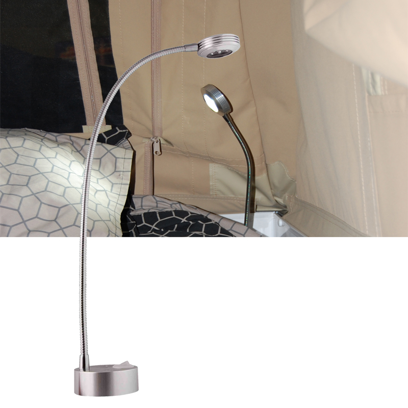 GTI - Silver DC 12V LED Flexible Reading Light -on Bed Table Desk Lamp Warm White/Cold White