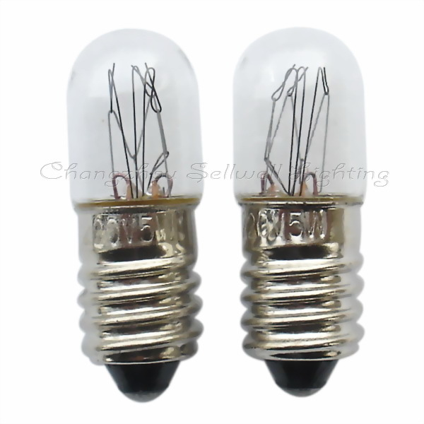 Miniature lamp 220v 5w E10 t10x28 A357 NEW 10pcs