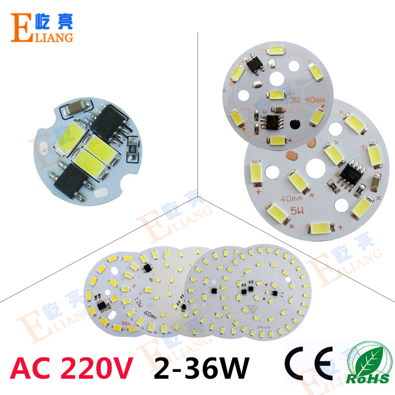 10pc AC 220V modules led pcb no need driver pcb SMD5730 AC220V PCB,leds aluminum lamp plate for led bulb lights,down light DIY