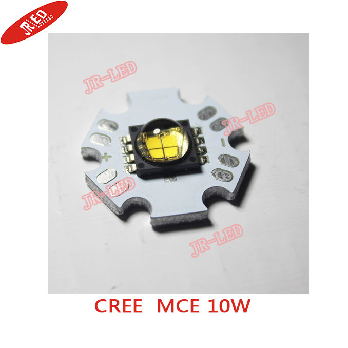 Freeshipping!2 PCS High Quality 10W Cree MC-E MCE DC-12v High Power LED Chip Light Lamp2800-3000k  warm White 12V  20mm Star PCB