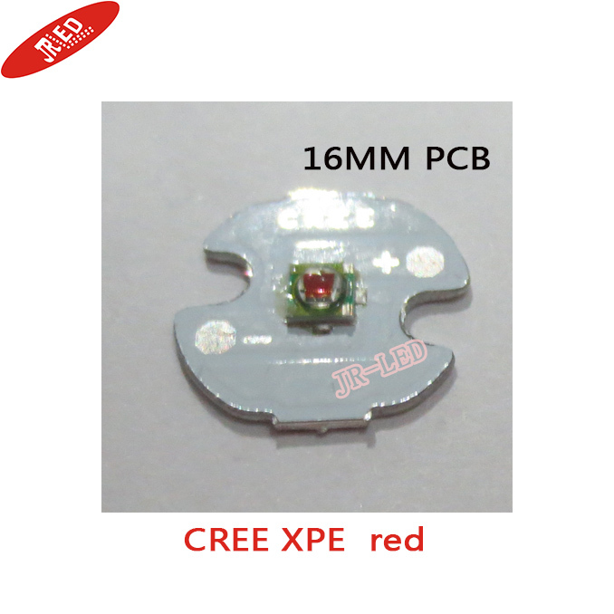 Freeshipping!10pcs X Cree XPE XP-E R3 1-3W LED Emitter yellow  Red Green Blue Royal Blue LED with 16MM heatsink