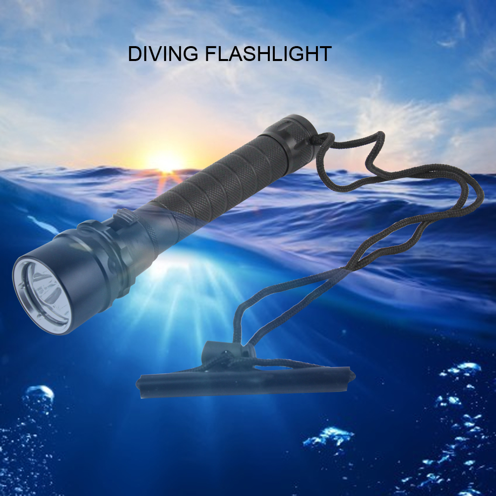 Ultraviolet 395-400nm Diving Light 3x XPE Linterna LED UV Flashlight Purple Light Waterproof Underwater Torch by 2x18650 Battery