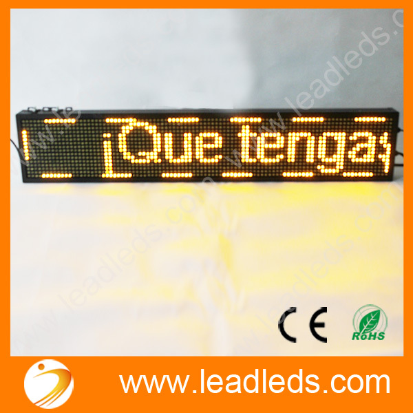 Led Displays Sporting 39x7.5 Inch Full-color Rgb Led Sign Usb Programmable Rolling Information P10 Indoor Led Display Screen