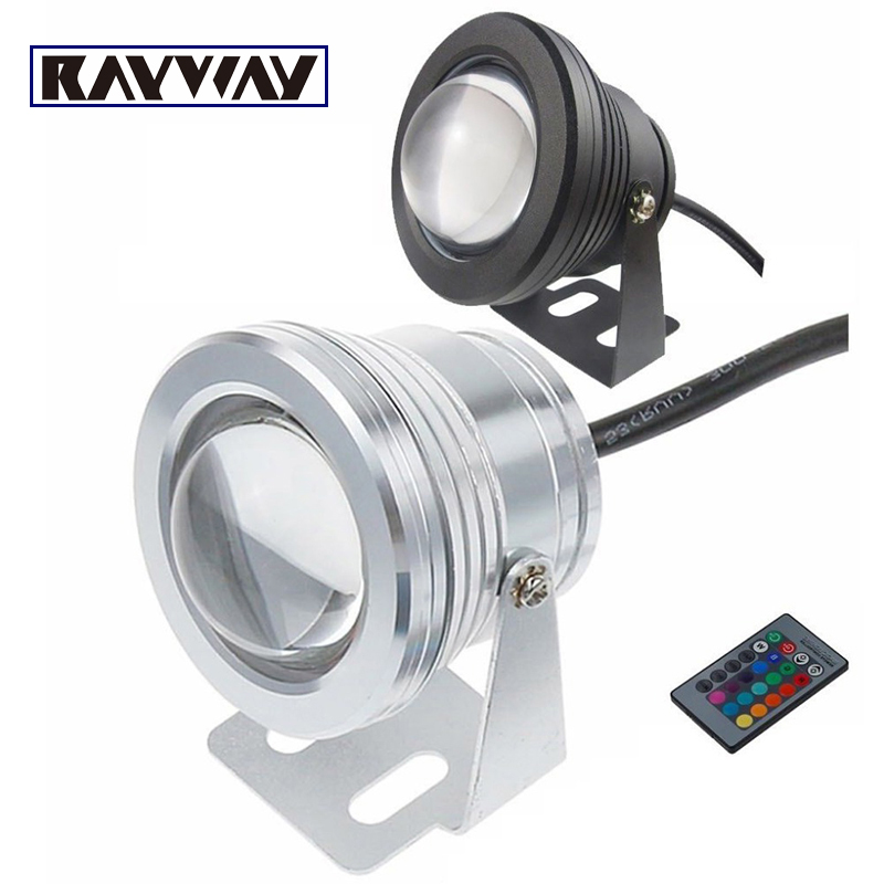 RAYWAY 10W 12V LED RGB Underwater LED Swimming pool Fountain Light Pond Fountain Fish Tank Aquarium Light Lamp + Remote Control