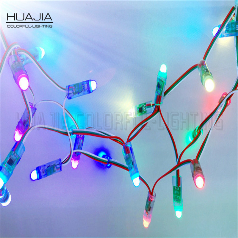 50pcs/string Dc5V WS2811 Led Pixel Module IP68 Waterproof Full Color RGB 2811ic String Christmas Led Light