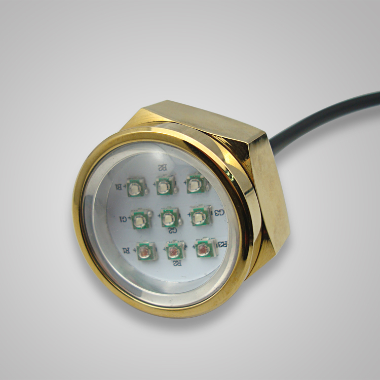 "Underwater Color Changing Cree 9X3W 27W  1/2"" NPT Drain Plug Lighting RGB LED Marine boat Light"